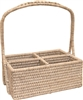 "Rectangular  Condiment Basket with Handle- WW 10x7x4(12)""H.."