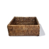 "Square Lunch Napkin Box  - AB 7.75x2.5""H.."