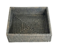 Cocktail Napkin Box Square WVR - Grey Wash 6.25x2.25' (Min. 2)