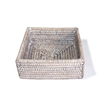 Square Cocktail Napkin Box - WW 6.25x2.25'H