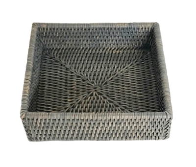 "Square Lunch Napkin Box  - GW 7.75x2.5""H.."