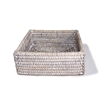 "Square Lunch Napkin Box -  WW 7.75x2.5""H.."