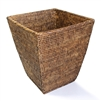"Square Tapered Waste Basket  - AB 12(8)x14""H.."