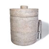 "Round Ice Bucket  w/ Thermos Liner (Large) - WW 10.25x12"".."