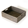 Rectangular Tray w/ Cut Out Handle- GW 18x15x5.5'H