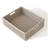 "Rectangular Tray w/ Cut Out Handle- W W 18x15x5.5""H"