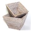 "Flower Basket Square Set 2 WVR - WW 9.5x6.5""H/8x6""H.."