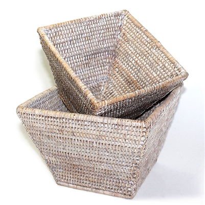 Flower Basket Square Set 2 WVR - WW 9.5x6.5'H/8x6'H