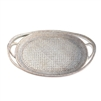 "Oval Tray  Open Lace Weave  - WW 21x14x2.75""H .."