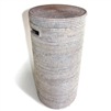 Tall Round Hamper w/ Cut Out Handle on the Side  - WW 13.5x28'H