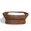 "Rectangular Pedestal Fruit Basket  - AB 21x10x8""H.."