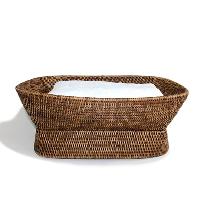 Rectangular Pedestal Fruit Basket  - AB 21x10x8'H