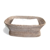 "Rectangular Pedestal Fruit Basket   - WW 21x10x8""H.."