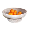 "Round Pedestal Fruit  Basket - WW 17.75x7""H"