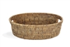 "Oval  Bread Tray w/ Handle - AB 13x9x4""H...."