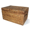 Rectangular Storage Basket  with Lid - AB 16x10x9""