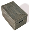 Rectangular Storage Basket  with Lid - GW 16x10x9'