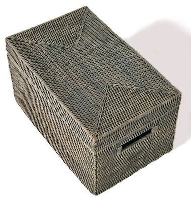 Rectangular Storage Basket  with Lid - GW 16x10x9""