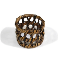 Round Open Weave Napkin Ring  - AB 1.5'