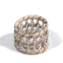 Round Open Weave Napkin Ring - WW 1.5'