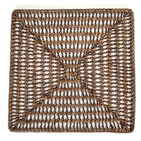 Square Placemat  Open Weave - AB 14'