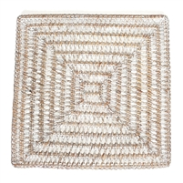 Square Placemat  Open Weave - WW 14'
