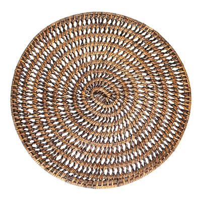 Round Placemat  Open Weave - AB 14'