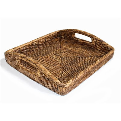 "Square Morning Tray - AB 12x12x2""H"