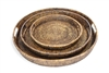 "Set  of 3 Round Trays - AB 18.5""/15.5""/11.5"" (2.5""H)"