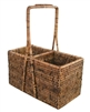 Wine Carrier Basket (2-bottle)  - AB 9.5x4.5x5.75/12'H