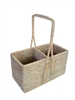 Wine Carrier Basket (2-bottle) - WW 9.5x4.5x5.75/12'H
