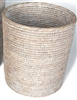 "Round Waste Basket Not Tapered (11"" x 10H"")  White Wash"