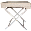 "Rectangular Butler Tray with Stand- WW 26x18x29.5""H.."