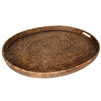 "Large Oval Tray  w/ Handles  - AB 28x23x2"".."
