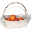 "Flower Basket with Handle  - WW 12/10""x8/6""x4x11"".."