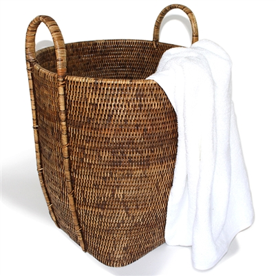 Round Laundry Basket with Loop Handle - AB 15x17'H