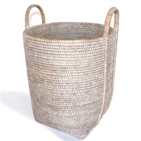 "Round Laundry Basket with Loop Handle -  WW 15x17""H.."