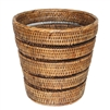 Waste Basket with Pattern Weave - AB 10.5/8x10'H