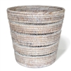 "Waste Basket with Pattern Weave - WW 10.5/8x10""H.."