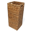 "Square Umbrella Basket w/ Metal Liner to Catch Rain Water - AB 9x9x22""H...."
