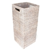 "Square Umbrella Basket w/ Metal Liner to Catch Rain Water - 9x9x22""H.."