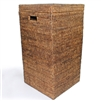 "Square Laundry Hamper with Cut Out Handles - AB 15x15x28"".."