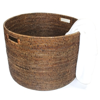 "Open Round Storage Basket  - AB 20x20x14"".."