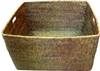 "Storage Basket with Cutout Handles AB 26x22x15""H.."