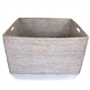 "Storage Basket with Cutout Handles WW 26x22x15""H.."