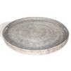 "Round  Tray w/ Handle  - WW 26x2""H.."