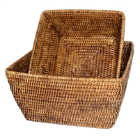 Square Storage Basket Set Of 2   AB ...