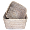 "Square Storage Basket Set of 2 - WW 9x5""/11x5.5"".."