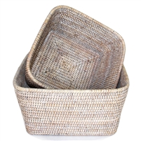 Square Storage Basket Set Of 2   WW ...