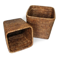"Square Planter Basket Set 2 - AB 7.5x8""/9x9.5""...."
